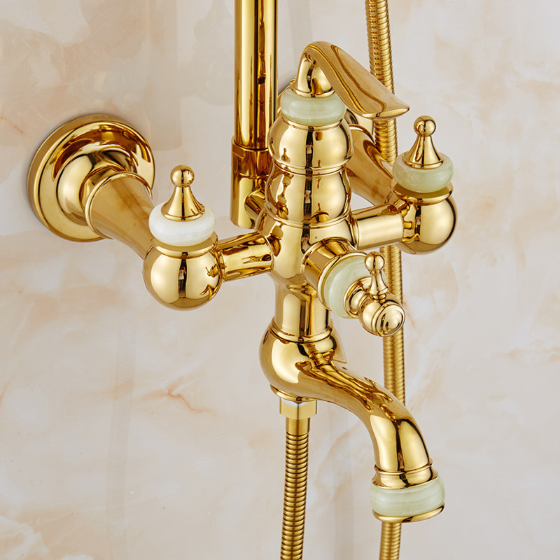 Gold Shower Head Bathroom Fixtures. Awesome With Gold Shower Head ...