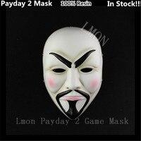 Бесплатная/Прямая доставка Оптовая Смола страшный Клоун Маска Payday 2 Хэллоуин маска для antifaz партии Тушь для ресниц carnava V страшно маска