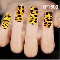 1 hoja nueva cubierta completa Animal diseños de piel encanto Sexy Decals Stickers para uñas puntas de transferencia de agua manicura decoraciones XF1503