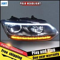 2PCS Car Style LED Headlights For VW Polo 2011 2017 For VW Polo Head Lamp Lens