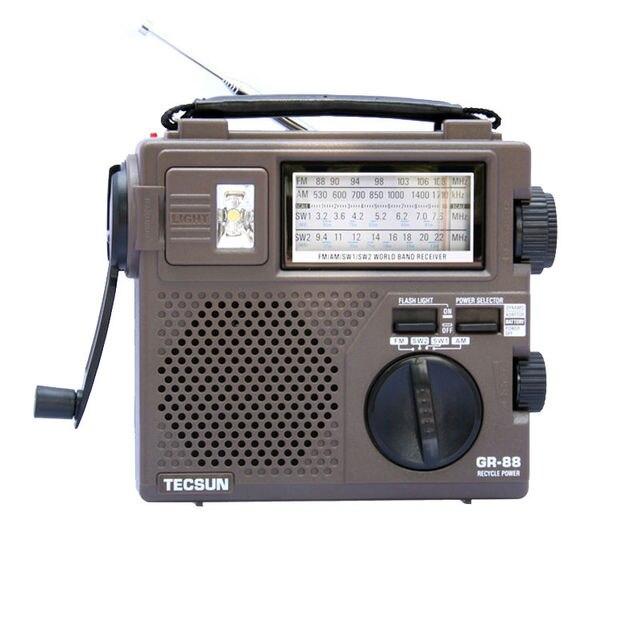 TECSUN GR-88 FM/MW/SW Full-Wave . Портативный радио приёмник, полный диапазон радиоволн, встроенный динамик. Бесплатная доставка