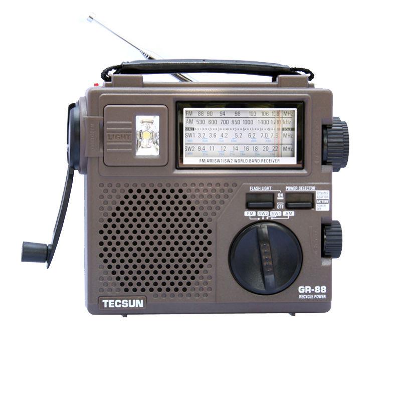 Prix pour TECSUN GR-88 FM/MW/SW Pleine-Onde Band Radio Récepteur Portable Rechargeable Radio Avec Haut-Parleur Intégré Livraison gratuite