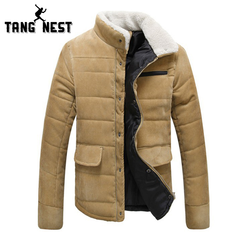 2017 Autumn Winter Men s Stand Fur Collar Slim Fif Fashional Jacket Four Color New Arrival