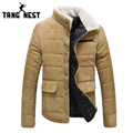 2017 Autumn & Winter Men's Stand Fur Collar Slim Fif Fashional Jacket Four Color New Arrival Solid Soft Man Jacket MWM745