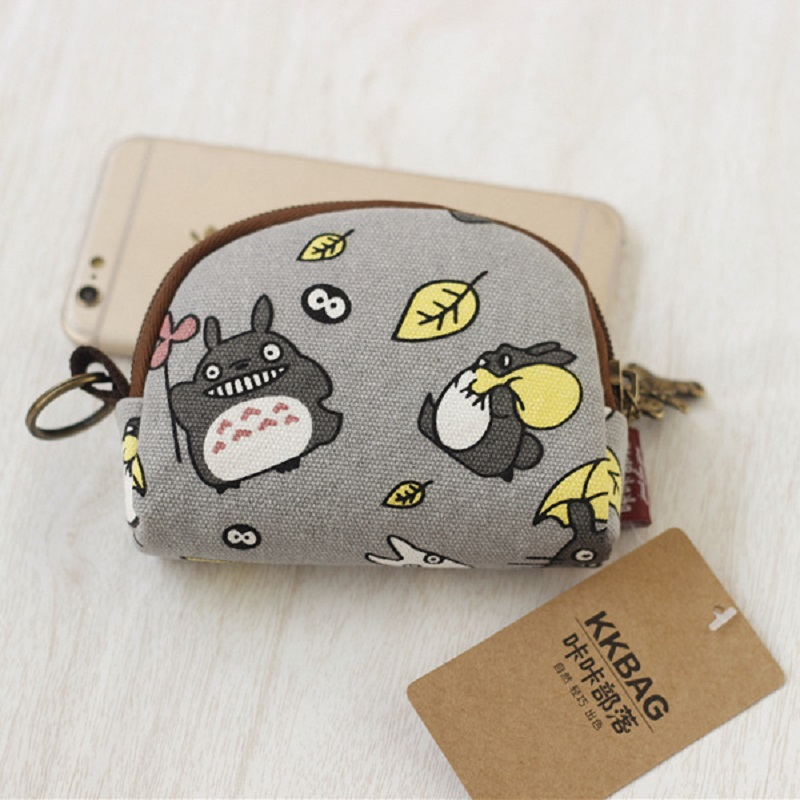 Canvas cartoon totoro women's mini wallet children's small pouch mini money bag female purse carteira feminina for girls boys 10piece 100% new isl6262 isl6262acrz qfn chipset