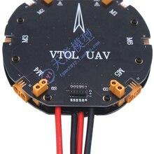 6 axis 10l, painel de distribuição agrícola da aeronave do inseticida do uav 15l contém o conector xt90, fio do silicone