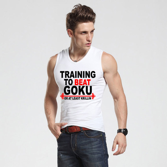 Dragon Ball Z Slim Fit Vest Gym T-shirt