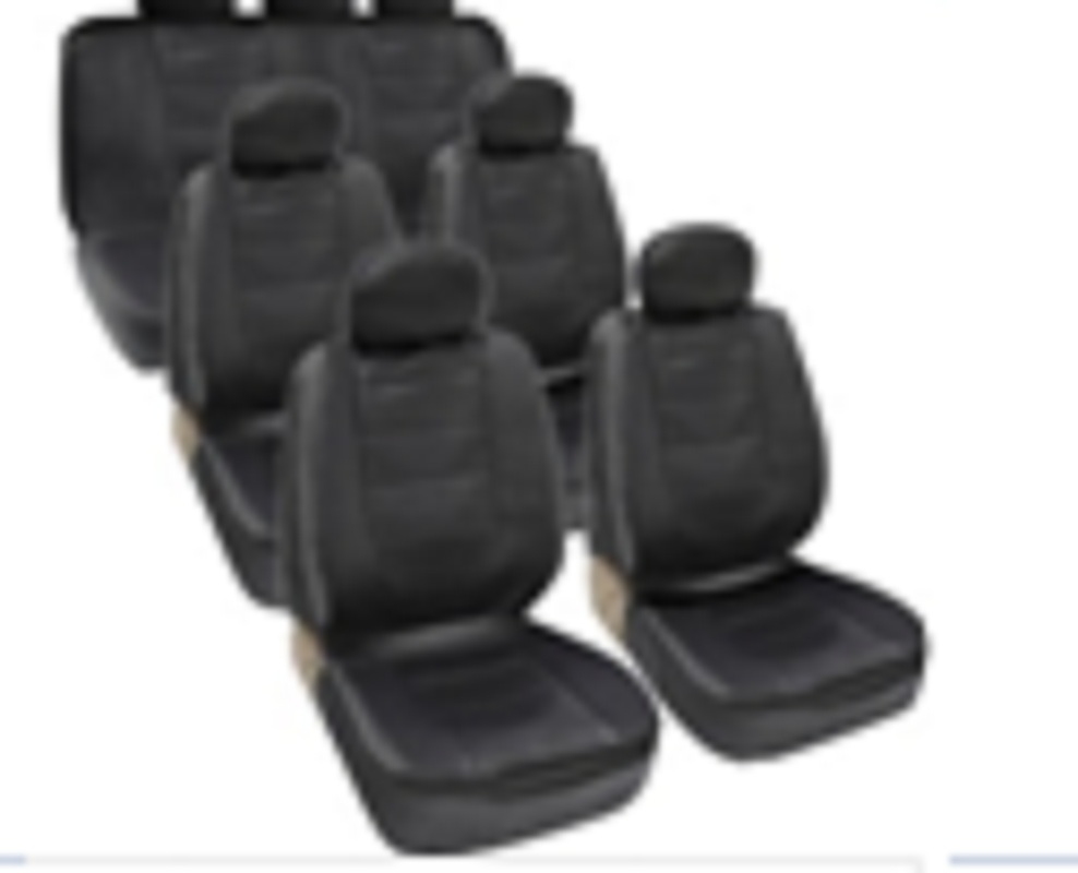 pu leather newest fashion car seat 18 piece 7 seat four seasons universal cover seat black  three row Comfortable high quality