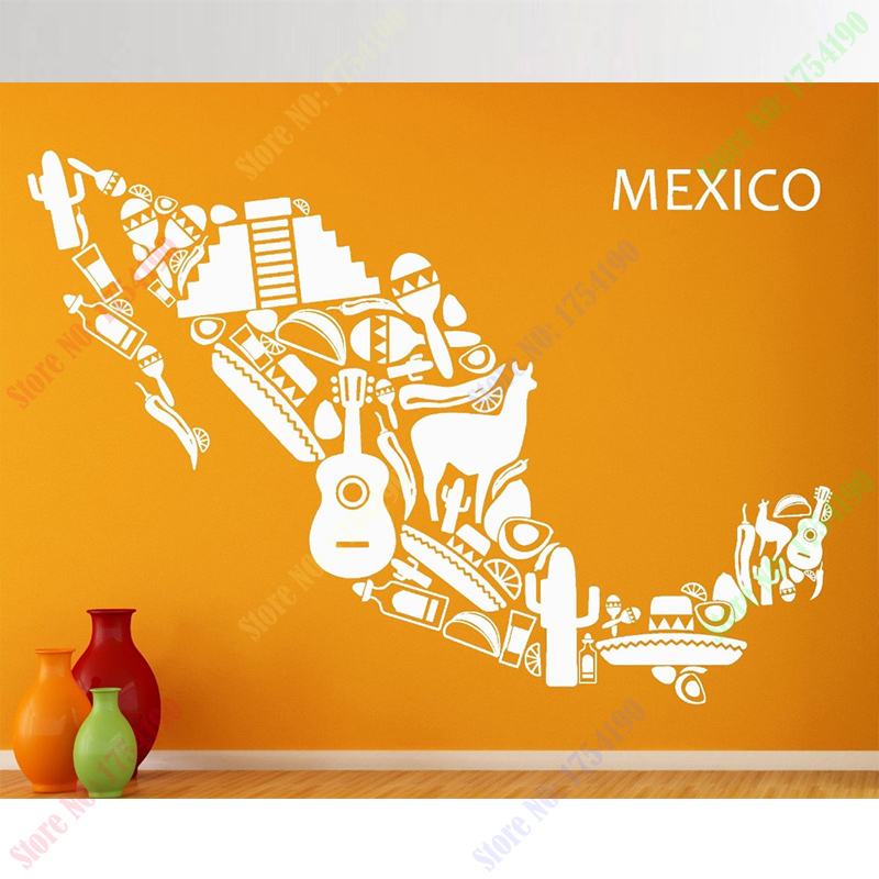 2017 New Wall Stickers Vinyl Decal Mexico Mexican Latin America Cool ...