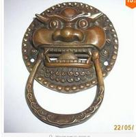 Copper Brass craft collecting OLD copper decoration brass Elaborate Chinese Copper Foo Dog Foo Lion Door Knocker