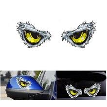 цена на Car 3D Eye Car Stickers Eagle For Eye Car Body Mirrors Windows  Reflective Car decoration Stickers