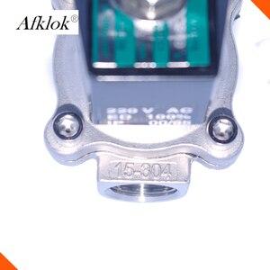 Image 5 - 2Way 3/8 1/2 3/4 Elektrikli Selenoid Vana 24 v 12 v 220 v 11 v Düşük Basınçlı N/C EPDM Conta BSP NPT Konu