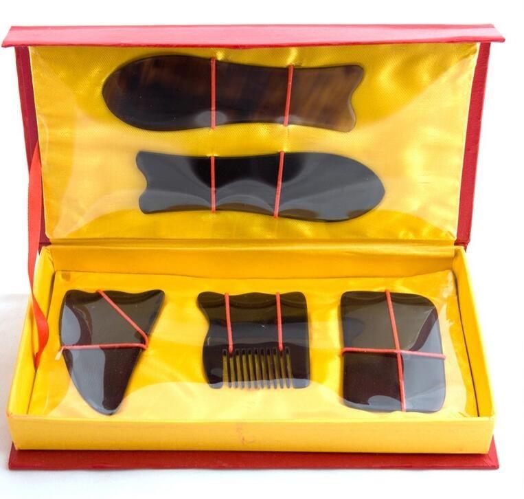 Nova Alta Qualidade Profissional Acupuntura Tradicional Massagem Tool Set Gua Sha Guasha PY31M