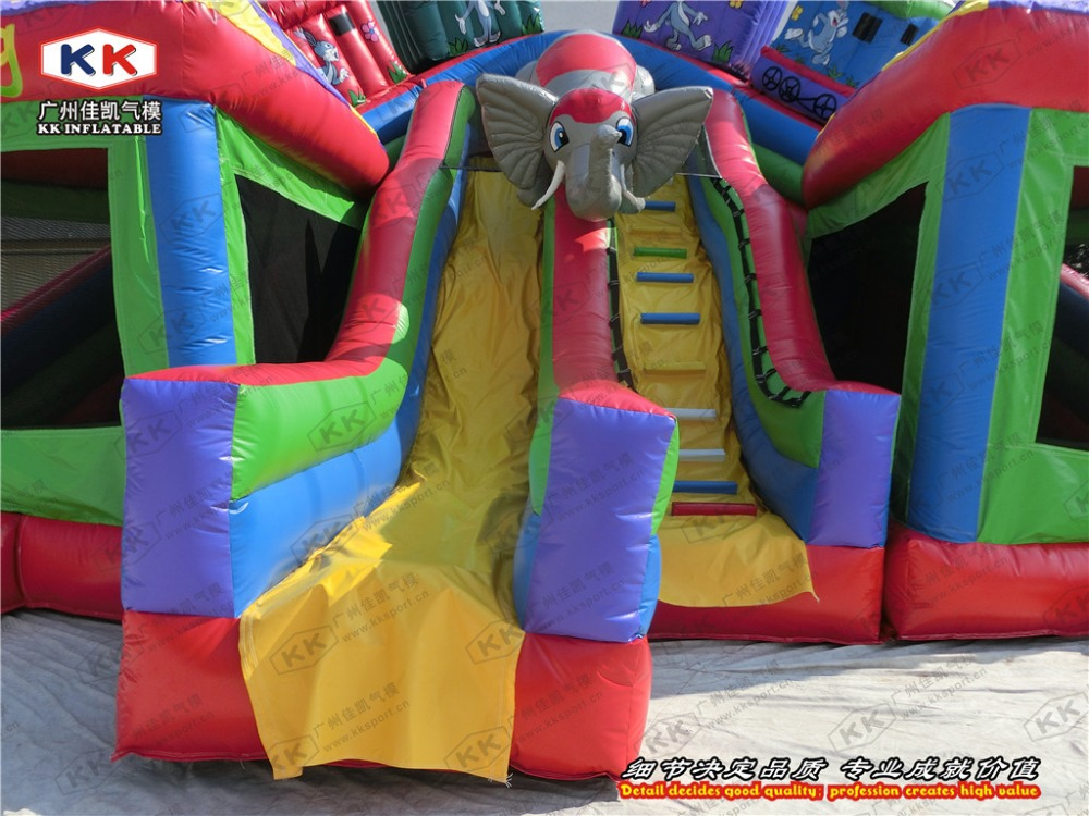 commercial bouncer house large inflatable fun city with slide combo rental