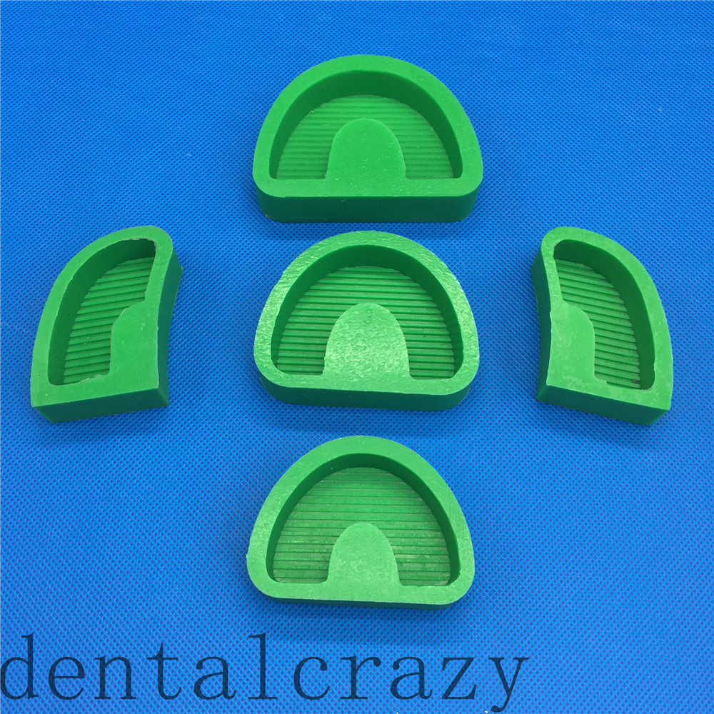 5pcs/set Dental Lab Silicone Rubber Plaster Model Base Molds With Tonguel /Without Tonguel
