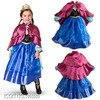 New Custom Anna Elsa Girls Dresses Winter Children Dress Kids Party Summer Vestido Baby Cinderella Cosplay