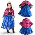 Novo Anna Elsa meninas de inverno crianças crianças Vestido de festa Vestido de Cosplay Vestido Pincess vestidos
