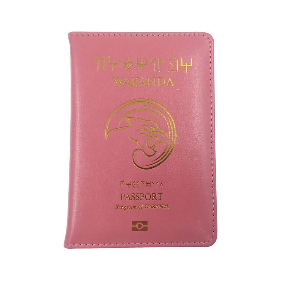 Travel Accessories Function PU Leather Wakanda Passport Holder Women Cover Storage Organizer Busines Credit ID Card Wallet Case