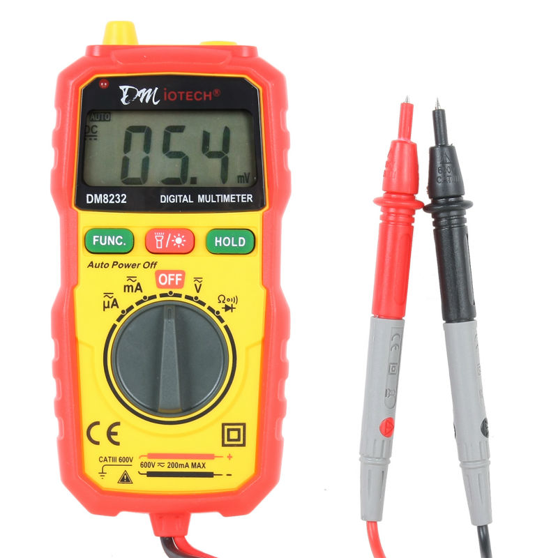 New Arrival Non Contact Auto Ranging Multimeter Continuity Tester AC DC Current Voltage Resistance Meter AC Voltage Detector ams8211d pen type digital multimeter dc ac voltage current meter tester continuity diode non contact voltage logic test