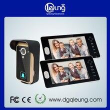 Seguridad para el hogar video de la puerta del timbre del teléfono de intercomunicación 1 cámara 2 monitores QLEUNG Video Sin Hilos Teléfono de La Puerta