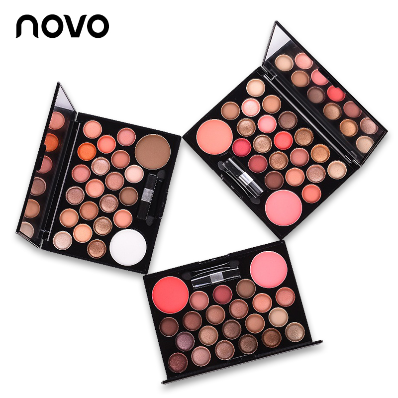 novo brand Professional 22 Colors naked Eyeshadow Palette Neutral Nude Eye Shadow Giltter shimmer Cosmetic Makeup Palette Set цена