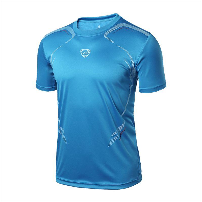 الرجال الصالة الرياضية الجري تي شيرت اللياقة البدنية العضلات سريعة الجافة تمتد أعلى قمزة ملابس جديدة