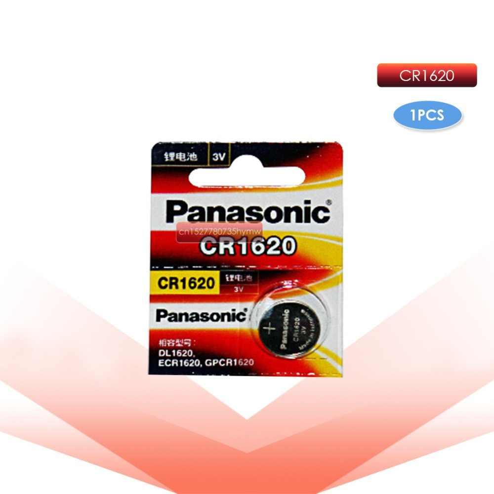 PANASONIC 1pc cr1620 3v ปุ่มเซลล์เหรียญลิเธียม li-ion แบตเตอรี่นาฬิกาของเล่นรถ ECR1620 DL1620 5009LC KCR1620 BR1620 LM1620