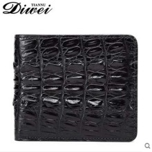 diwei 2017 new hot free shipping man purse  crocodile short money men wallet more screens authentic wallet youth fashion handbag