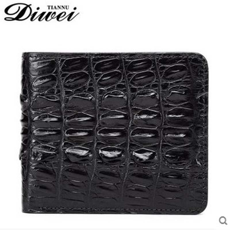 diwei 2017 new hot free shipping man purse  crocodile short money men wallet more screens authentic wallet youth fashion handbag