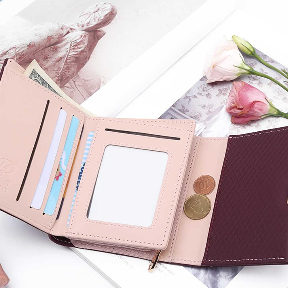 2018 Роскошный кошелек женский кожаный кошелек клетчатый кошелек Дамский горячий держатель для карт монета маленькие кошельки для девочек