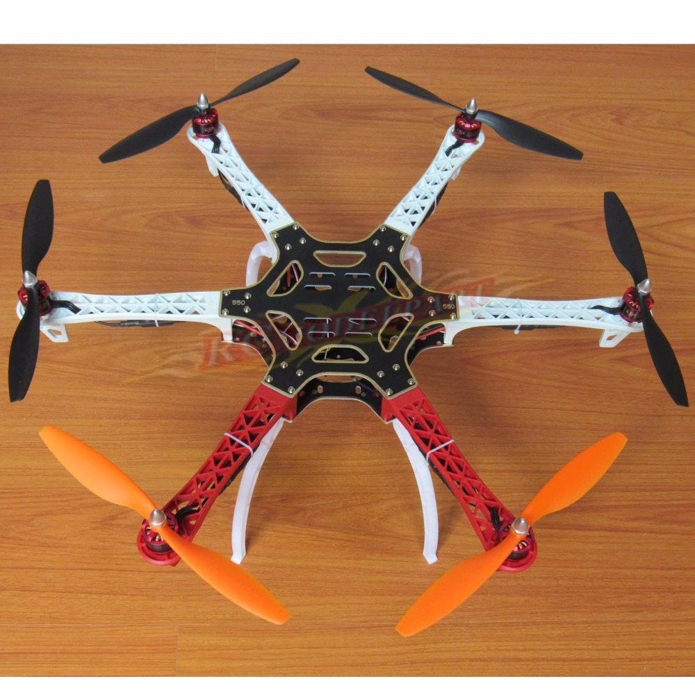 F550 ATF Hexacopter Frame Kit & HP 2212 920KV Brushless Motor DYS Simonk 30A ESC Gemfan 1045 Propeller