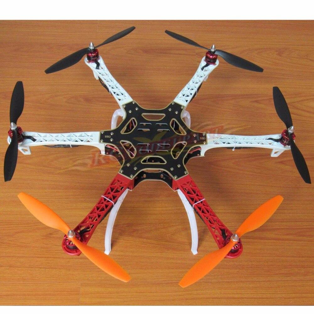 F550 ATF Hexacopter Frame Kit & HP 2212 920KV Brushless Motor DYS Simonk 30A ESC Gemfan 1045 Propeller