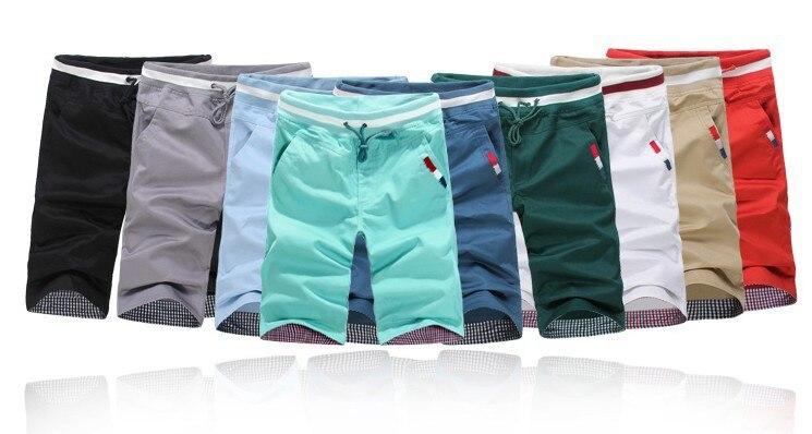 New 2017 summer high quality beach shorts men fashion solid 9 colors plus size 5xl elastic waist drawstring shorts /DK1