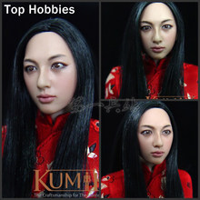 "Kumik KM001 1:6 Scale Soldiers accessories Female Woman Girl Head Sculpt Model Fit 12"" Phicen Doll Action Figure(China)"