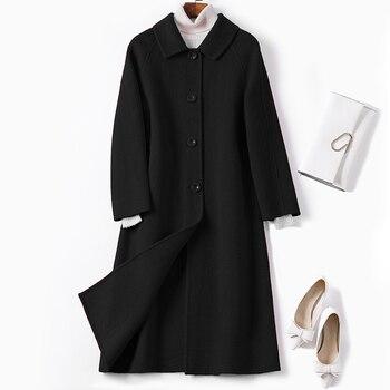 KMETRAM Real Wool Coat Female Jacket Woman Spring 2019 Korean Double-side Woolen Coats and Jackets Women Casaco Feminino MY3157