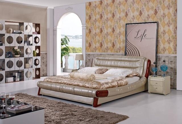 Schlafzimmer Amerikanischer Stil Die Moderne Designer Leder Weichen Bett/große  Doppel Schlafzimmer .