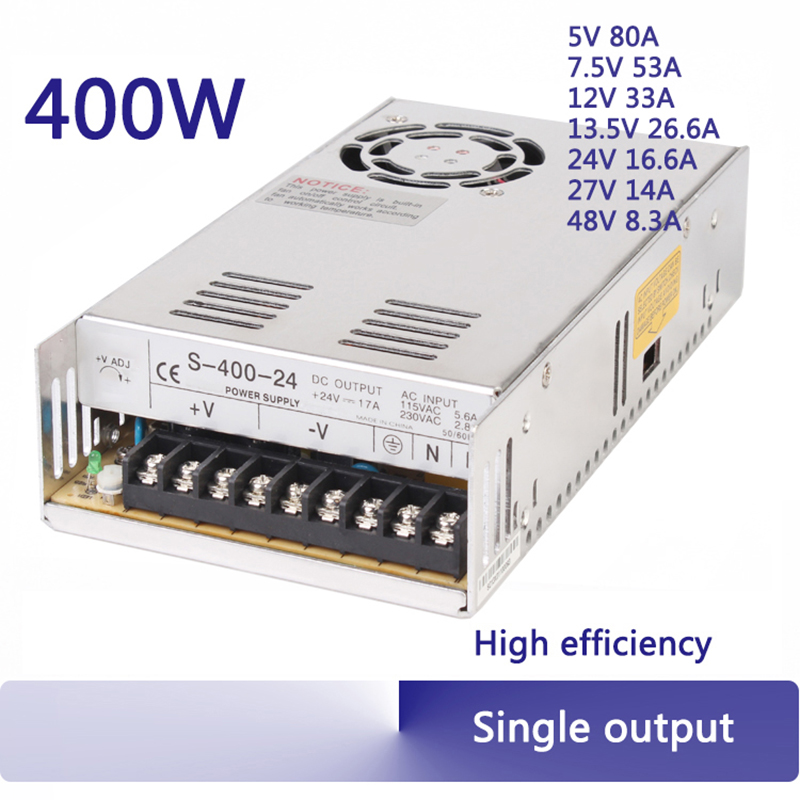 400W switching power supply adjustable 110/220v ac-dc for LED strip high quality power supply transformer 1200w 48v adjustable 220v input single output switching power supply for led strip light ac to dc