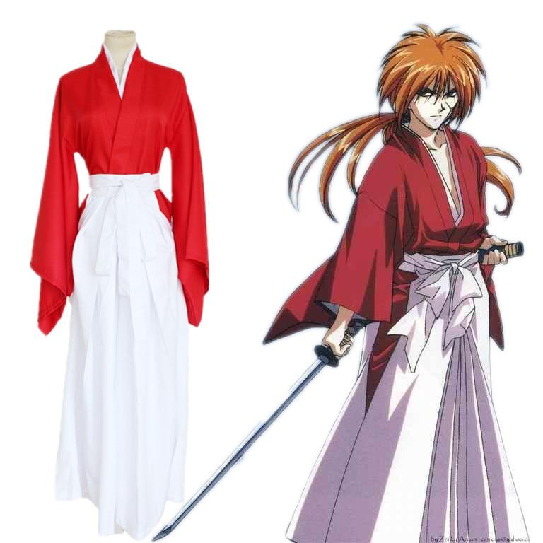 Rurouni Kenshin Himura Kenshin kimono Kendo kleding cosplay - Carnavalskostuums