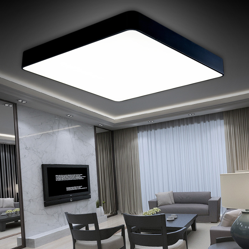 design lamp plafond new design acrylic modern led ceiling lights for living study room bedroom. Black Bedroom Furniture Sets. Home Design Ideas