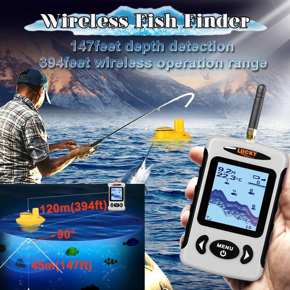 Écho Sondeurs détecteur de poissons Sans Fil Sonar Trouvaille Plus Profond Kayak Sondeur Pour L'océan Bateau De Pêche Plus Profond Trouvaille avec batterie