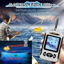 Эхо-соундерс рыболокатор беспроводной Sonar FindFish более глубокий каяк Fishfinder для океанской лодки рыбалка более глубокий FindFish с батареей