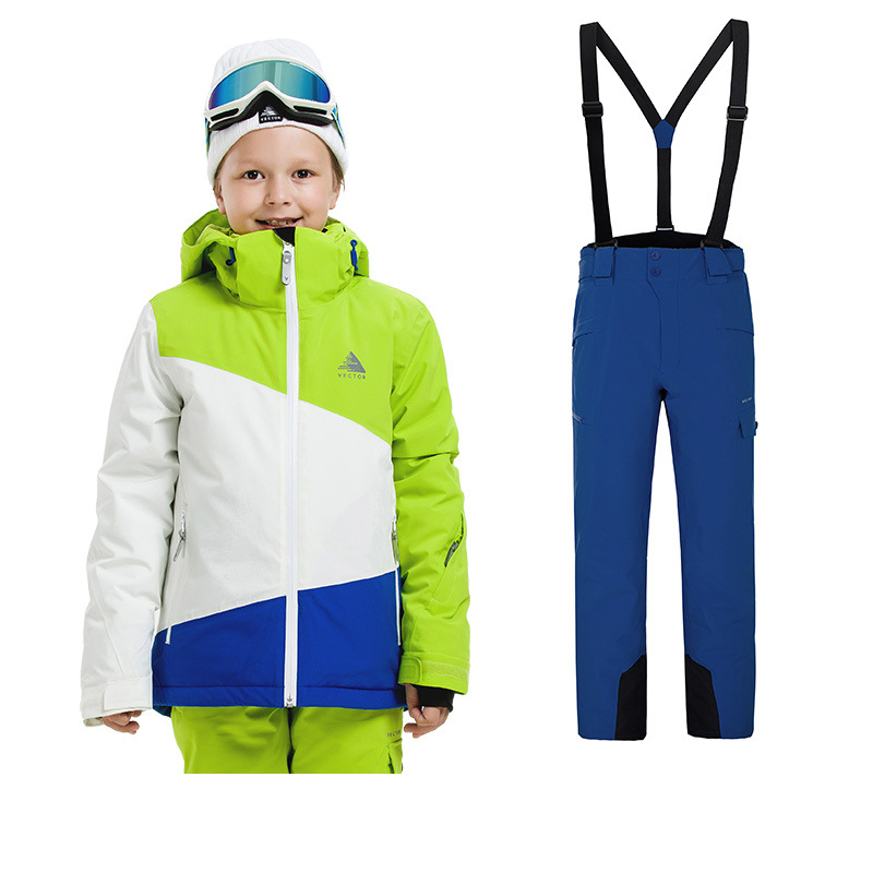 Children's Ski Suit Snowboard Two Sets Of Cold Weather -20 Degrees Waterproof And Windproof Boys And Girls Snowboard Set