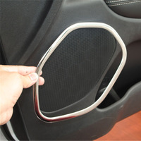 For Jeep Grand Cherokee 11 16 4PC/Set Stainless Steel Interior Car Inner Door Speaker Decor Rings Cover Stickers Styling