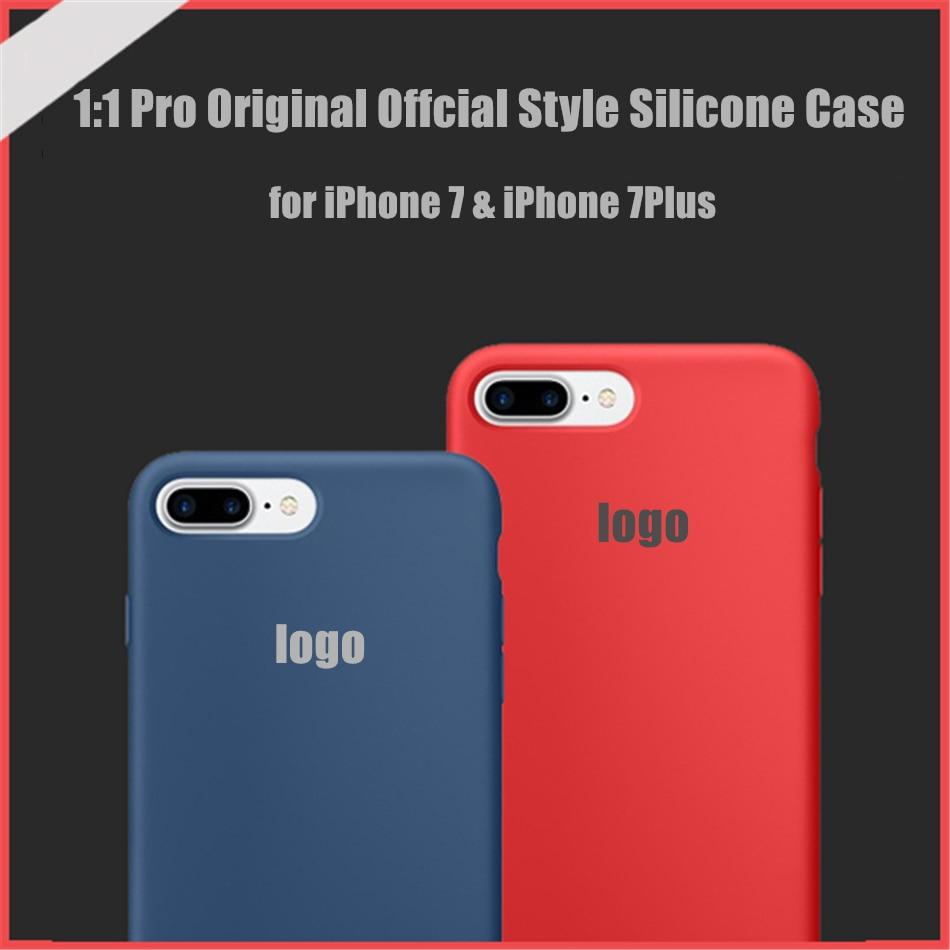 For iPhone 7 7 Plus Pro Original 1 1 Silicone Silicon Case Elegant Official Design Ultra