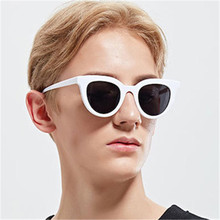 2018 Fashion Sunglasses Men Women Sun glasses Black White Woman Cat Eye Sunglasses Retro oculos de sol feminino UV400