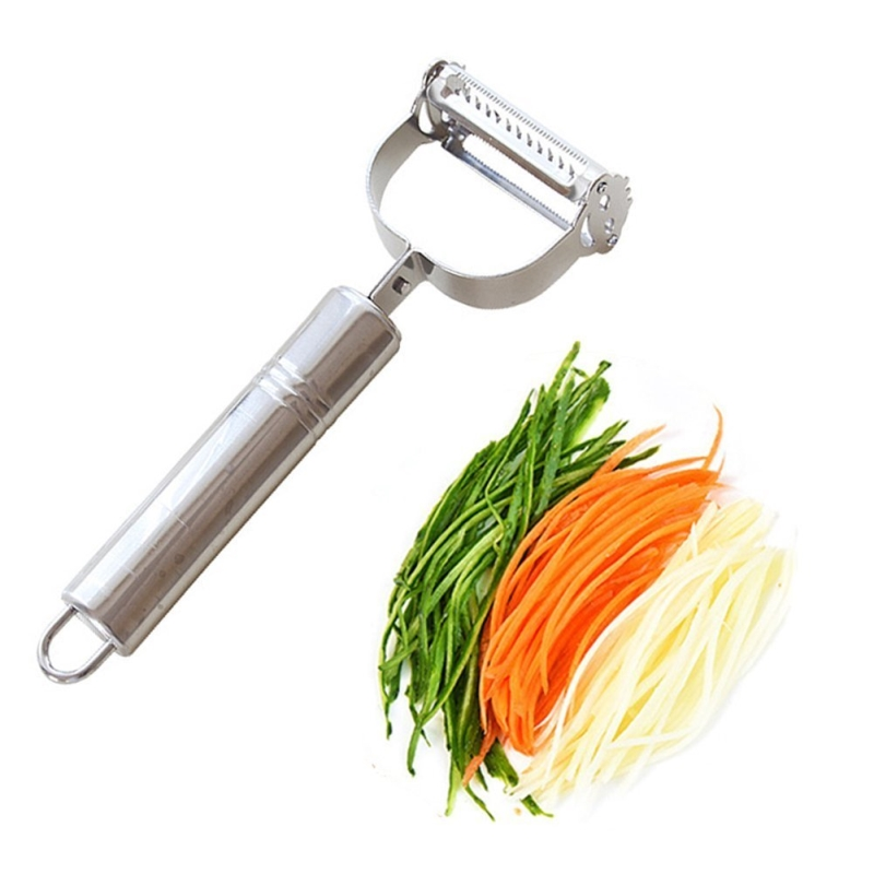 Stainless steel Grater vegetable Slicer double-headed multi-functional paper-cut fruit cut wire shavings fruit peeler