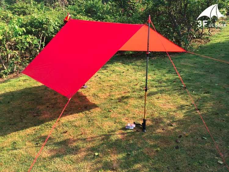 3F Ul Única Pessoa Ultraleve Caminhadas Ciclismo Ao Ar Livre Sol Abrigo Toldo Camping Mini Lona 20D Silicone