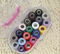 Швейные принадлежности пошив коробка набор домашний ручной портативный комплект для шитья коробка для хранения 30 компл. тов 19 цветов 200 ярд...