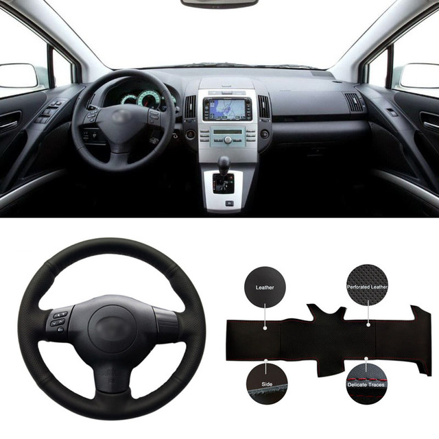 Diy Sewing On Pu Leather Steering Wheel Cover Exact Fit For Toyota Corolla 2004 2006