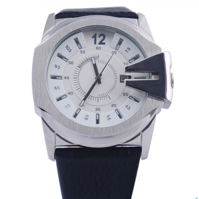 Mens Quartz Watches top Movement Brand Luxury Wristwatches Cow Leather Round Surface outdoor military Water Resistant Watch usb3 0 round type panel mounting usb connecter silver surface
